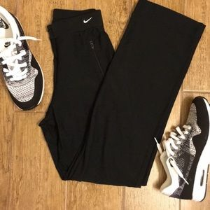 Nike Zip Front Dri-Fit Stretch Athletic Pant